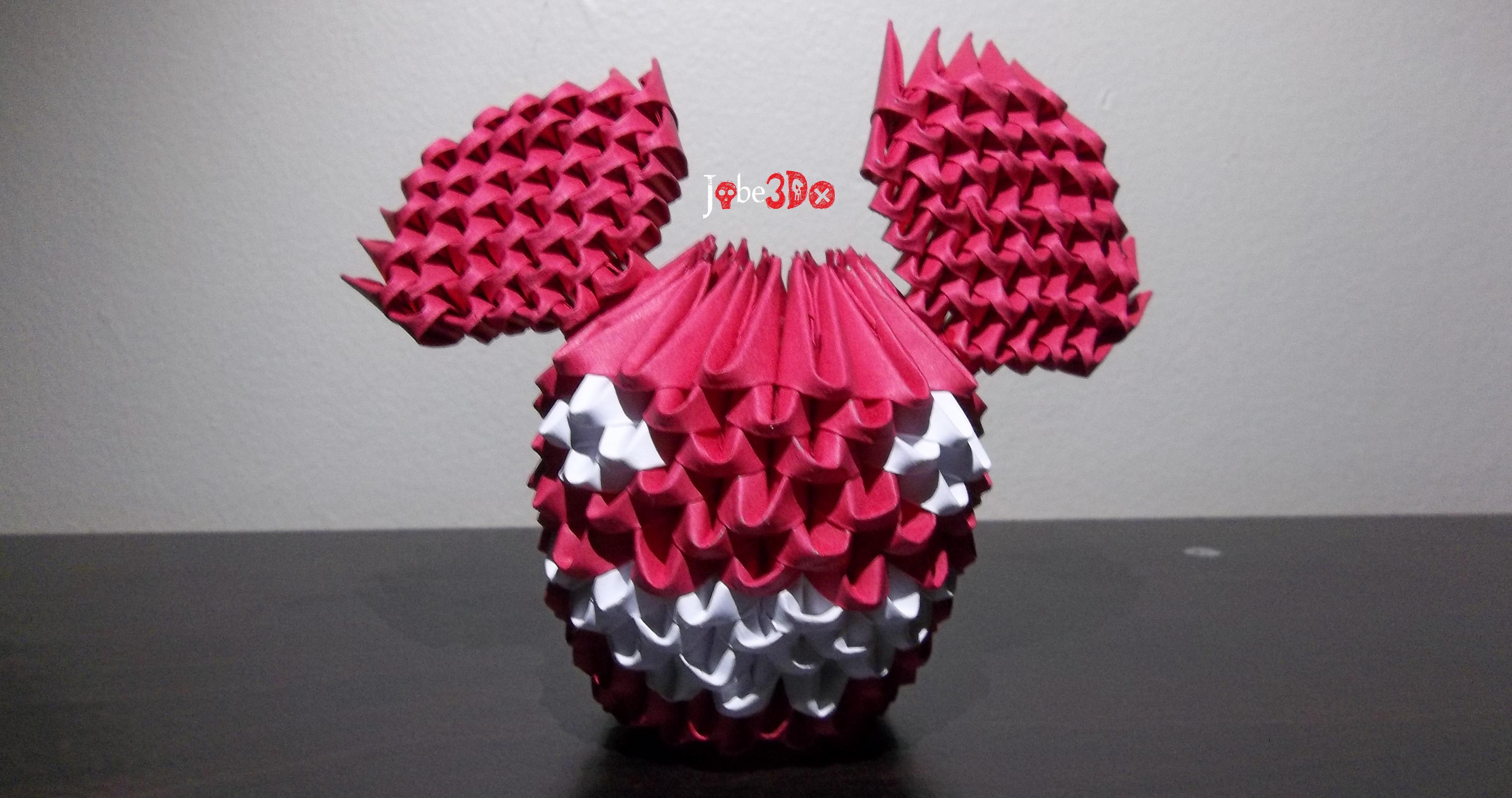3D Origami - Deadmau5 by Jobe3DO