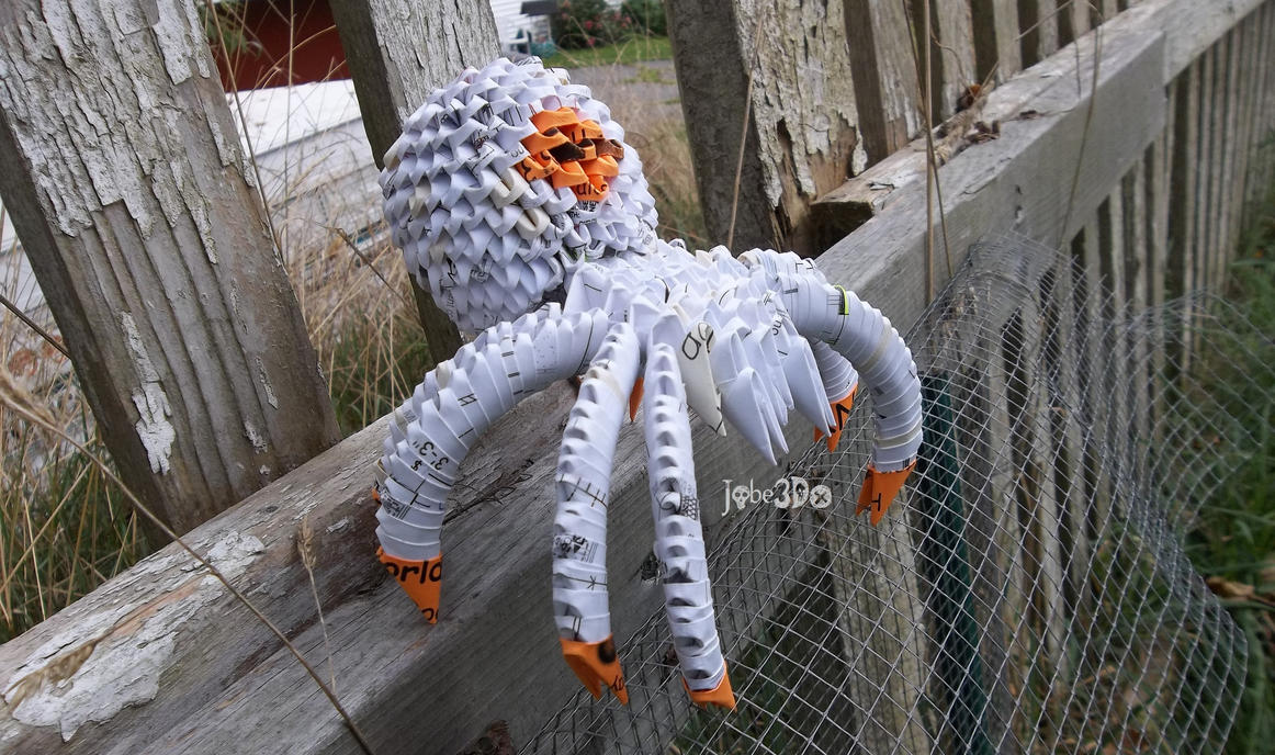 3d Origami Spider By Jobe3do On Deviantart