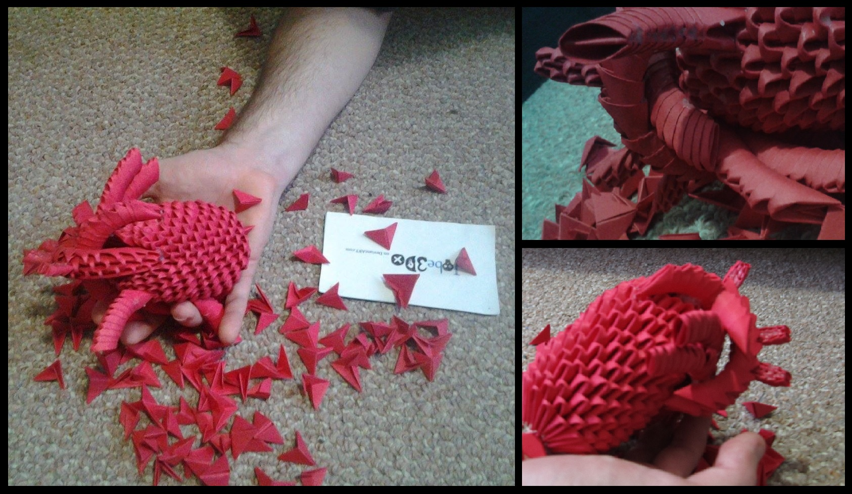 d origami human heart by jobedo on 3d origami human heart by jobe3do