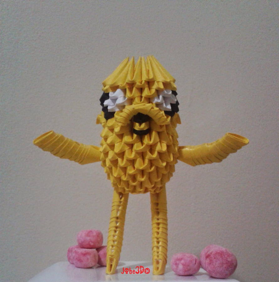 3D Origami - Jake The Dog by Jobe3DO