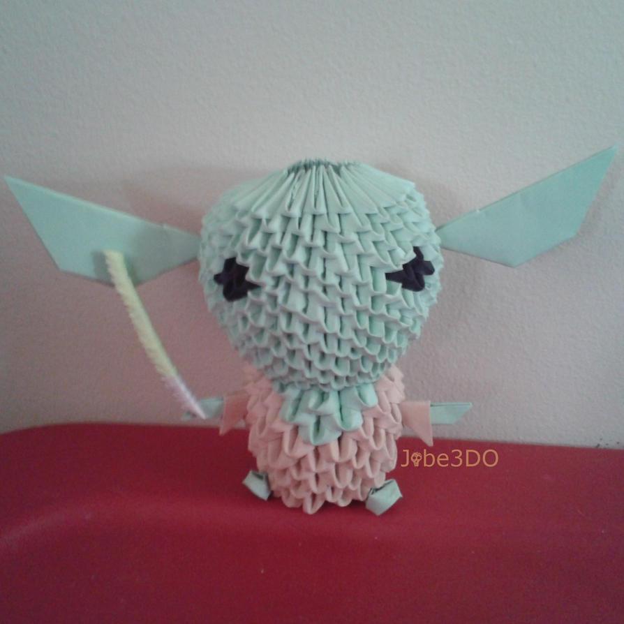 3D Origami - Chibi Yoda (Star Wars) by Jobe3DO