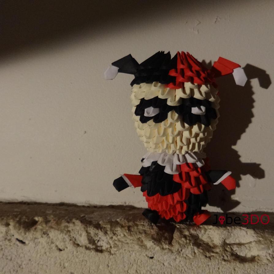 3D Origami - Chibi Harley Quinn by Jobe3DO
