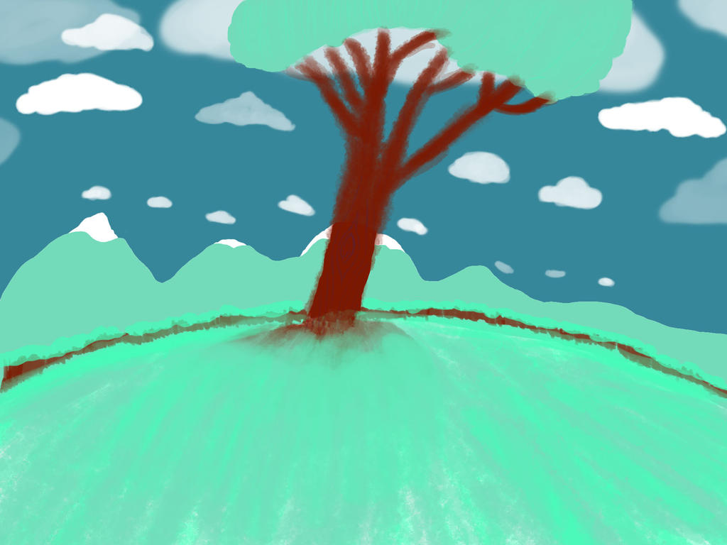 The lonely Tree (5 colour challenge) by GiantessLilly
