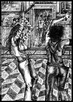 Midda vs Carsa, another time: unpublished art B.IV