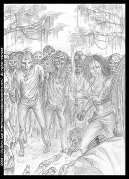 Midda vs zombies: the pencil version from Book I