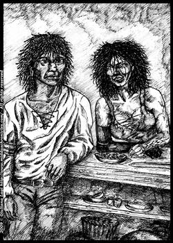 Midda and Be'Sihl: an unpublished art from Book II