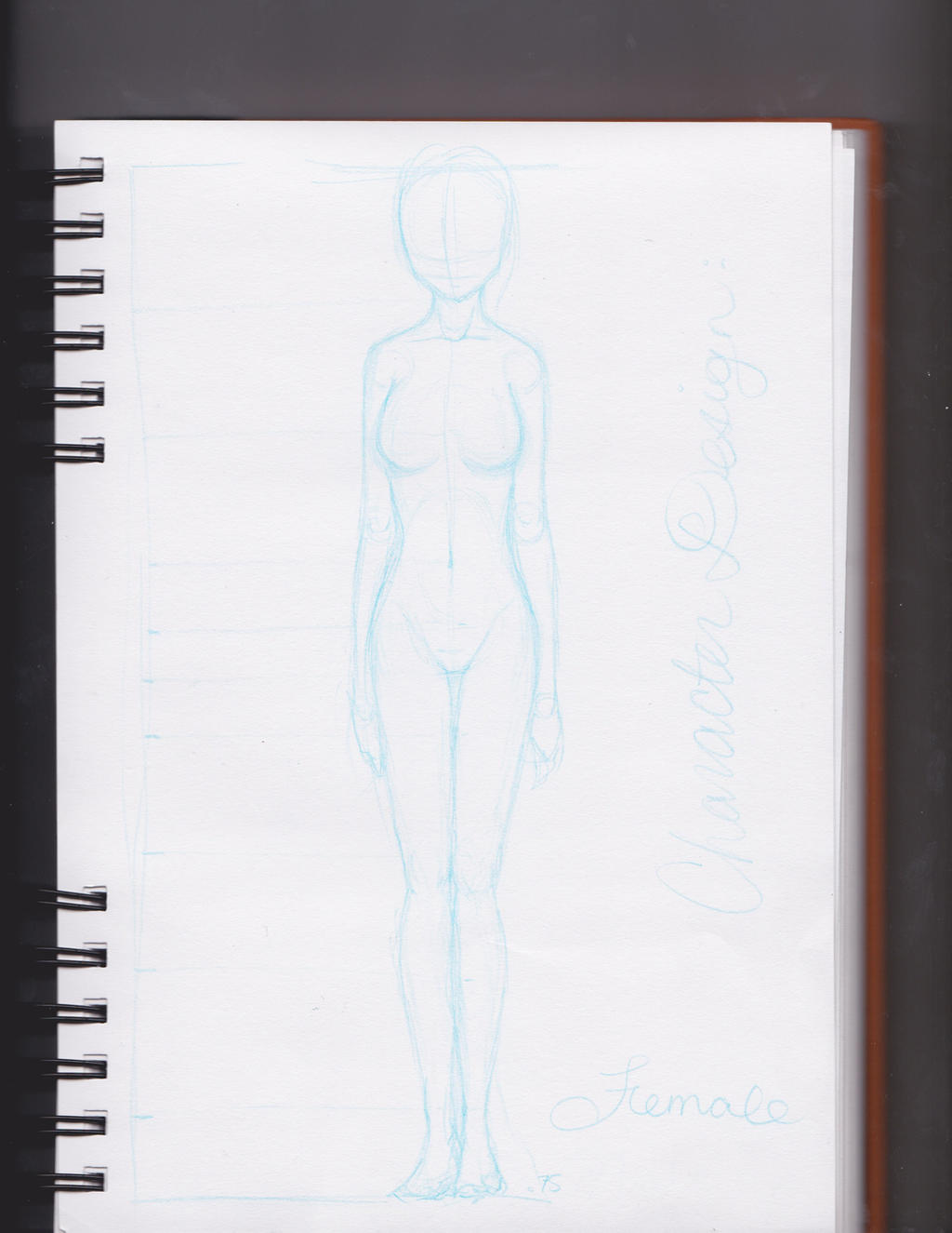 Character Design Outline : Female character design template by susanjohns on deviantart