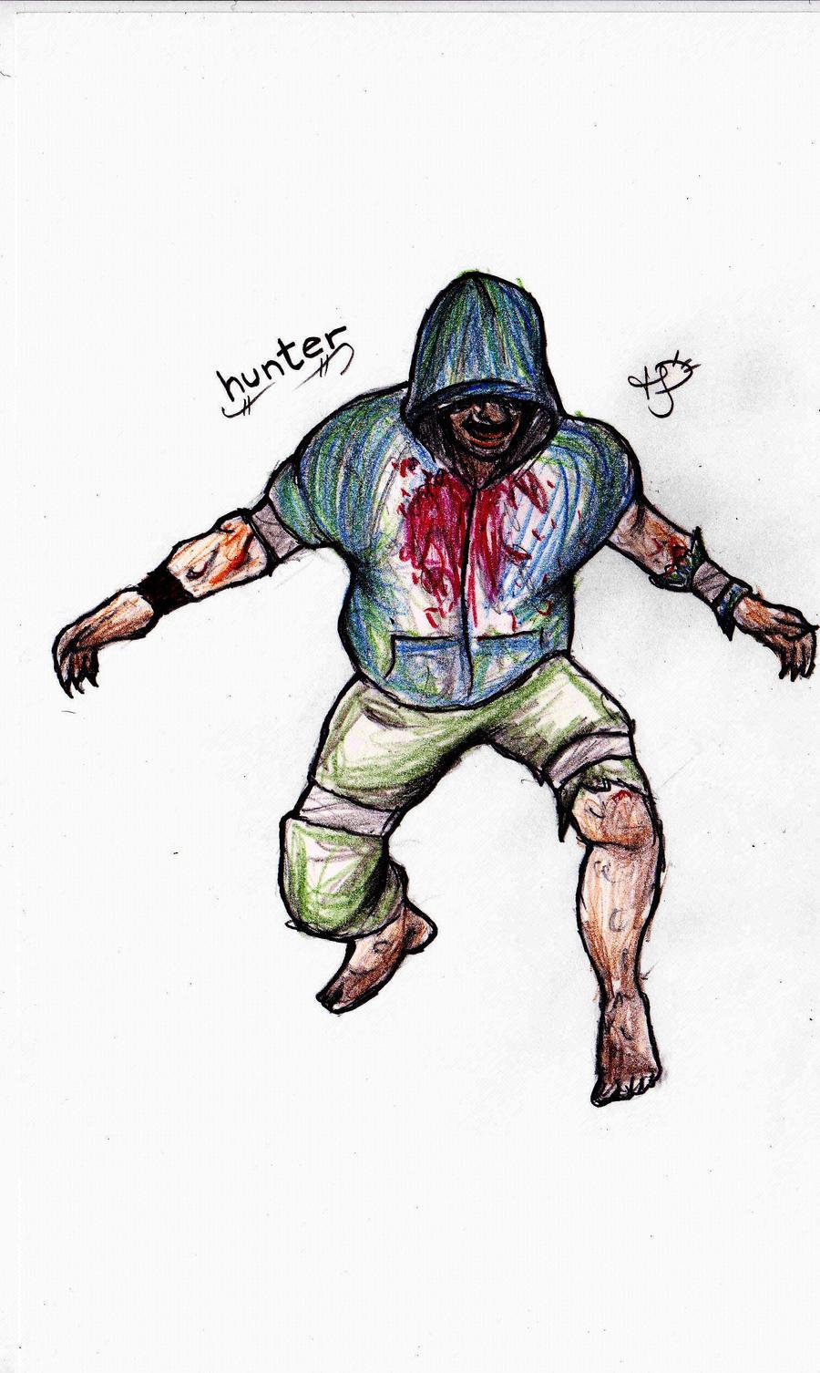 Left 4 Dead 2 Hunter Doodle by EmoHoodieDude
