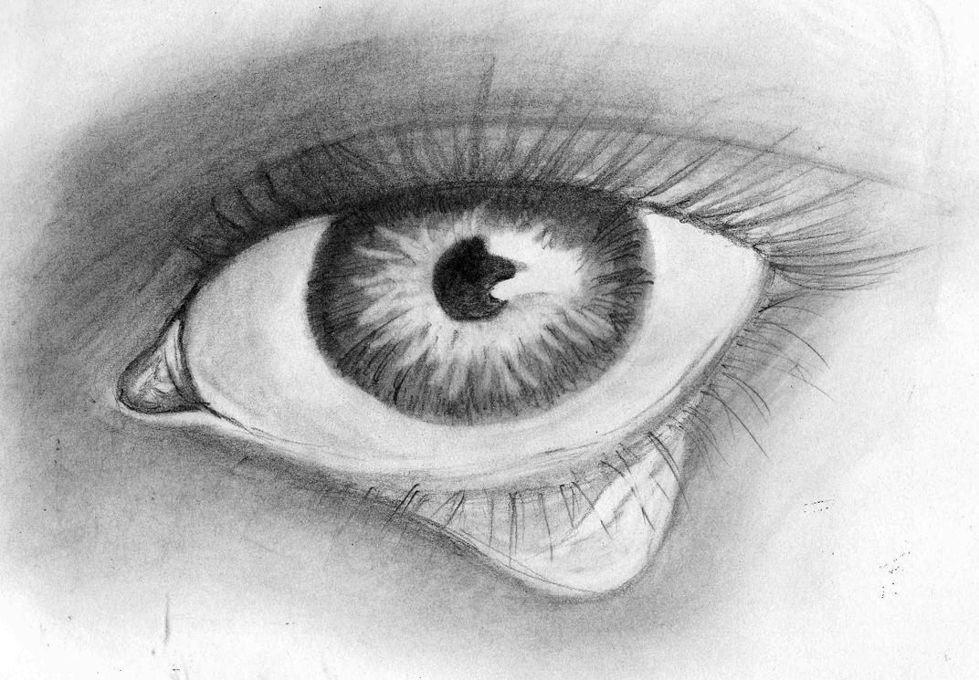 tear eye sketch by emohoodiedude on deviantart