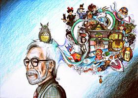 Ghibli tribute by Aadavy