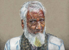 The Old Pakistani Man drawing by Aadavy