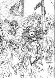 X-Men Legacy 226 Cover Pencils by TerryDodson