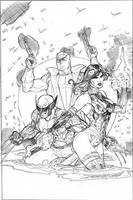 Uncanny X-Men 520 Cover Pencil by TerryDodson