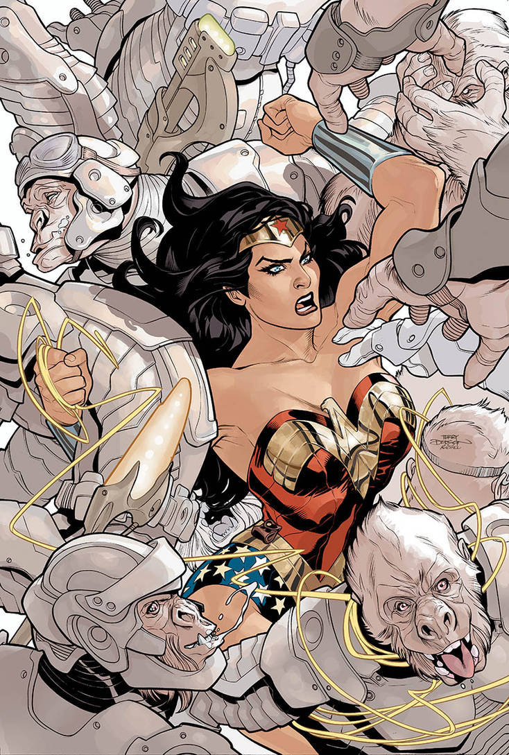Wonder Woman 14 Cover Final by TerryDodson