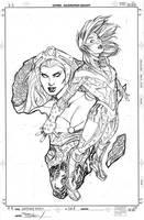 Uncanny X-Men 528 Cover Pencil by TerryDodson