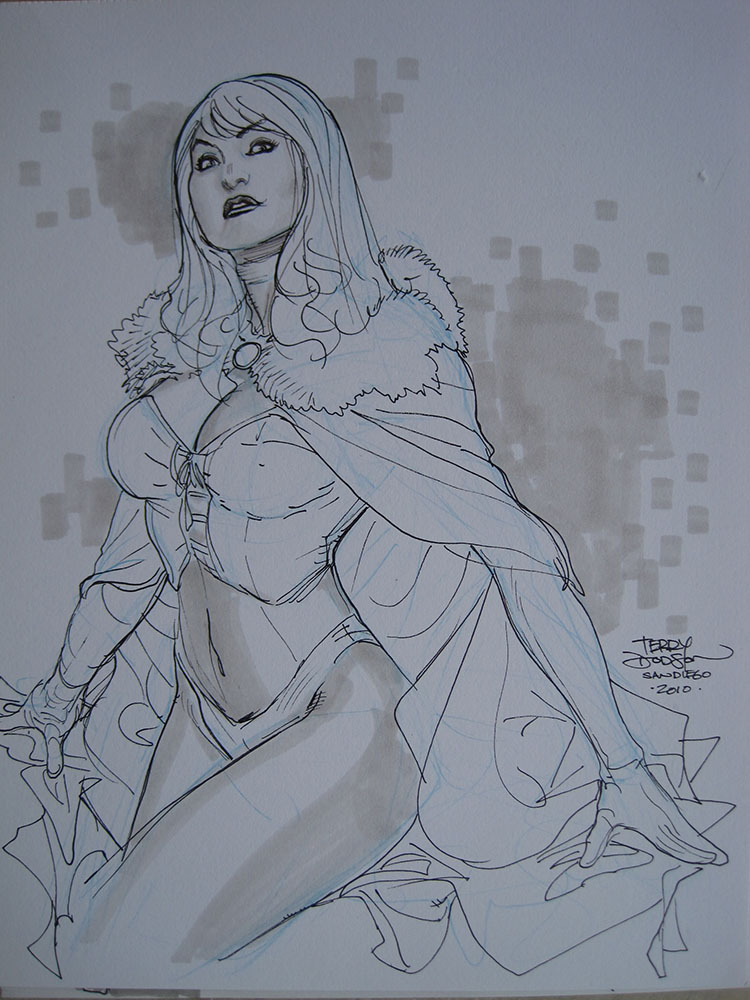 Emma Frost 001 San Diego 2010 by TerryDodson