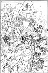 Uncanny X-Men 505 Cover Pencil