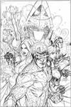 Uncanny X-Men 505 Cover Pencil