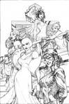 Uncanny X-Men 504 Cover Pencil
