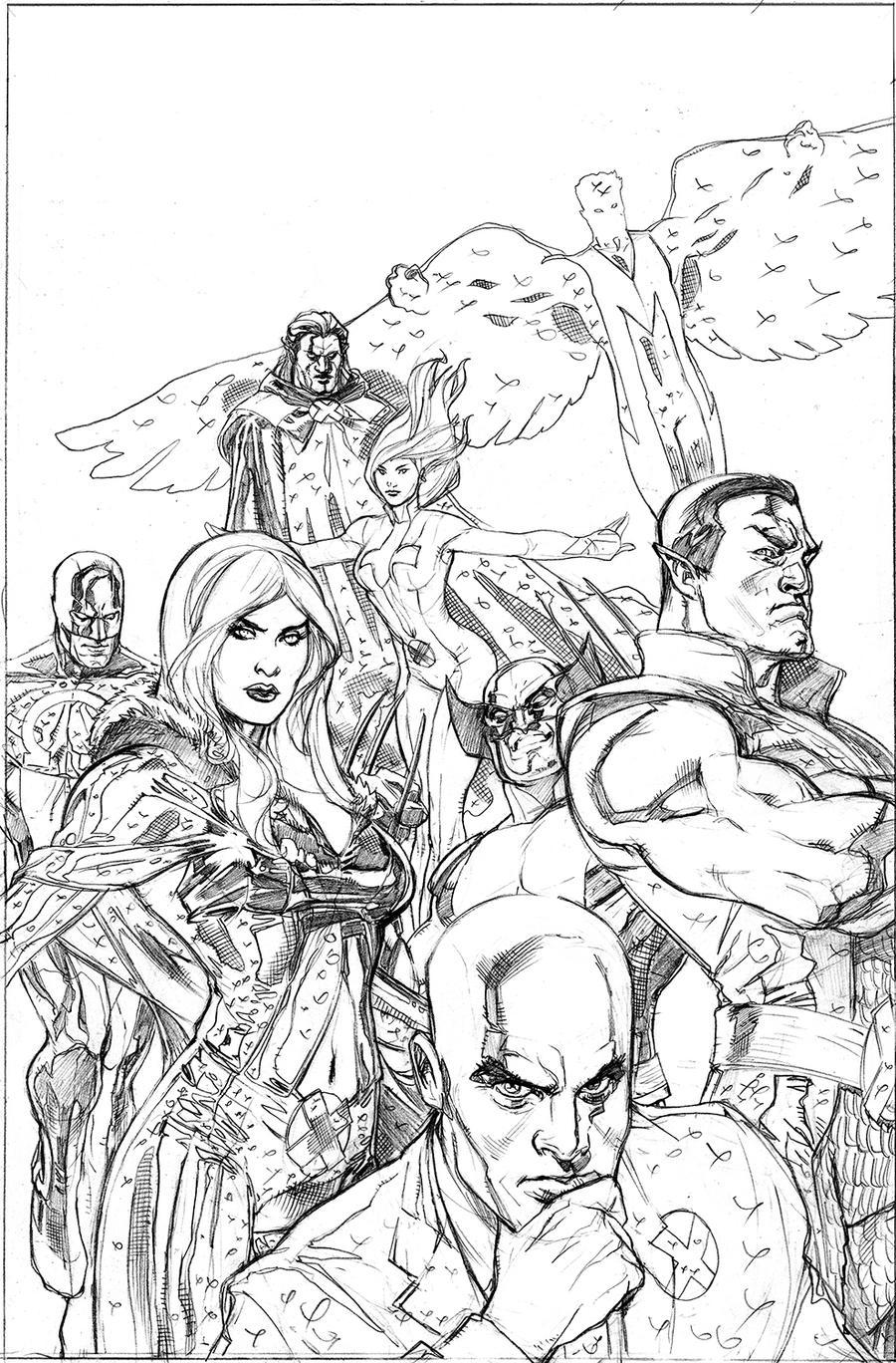 Uncanny X-Men 513 Cover Pencil by TerryDodson