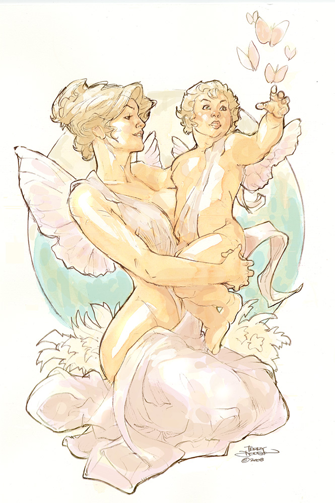 Carte de Voeux Watercolor by TerryDodson