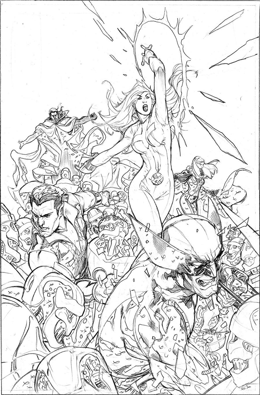 Uncanny X-Men 514 Cover Pencil by TerryDodson