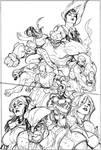 Young X-Men 1 Cover Pencils
