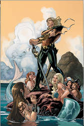 Aquaman 54 Cover Final by TerryDodson
