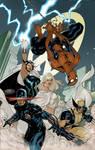 X-Men 7 Cover Colors WIP