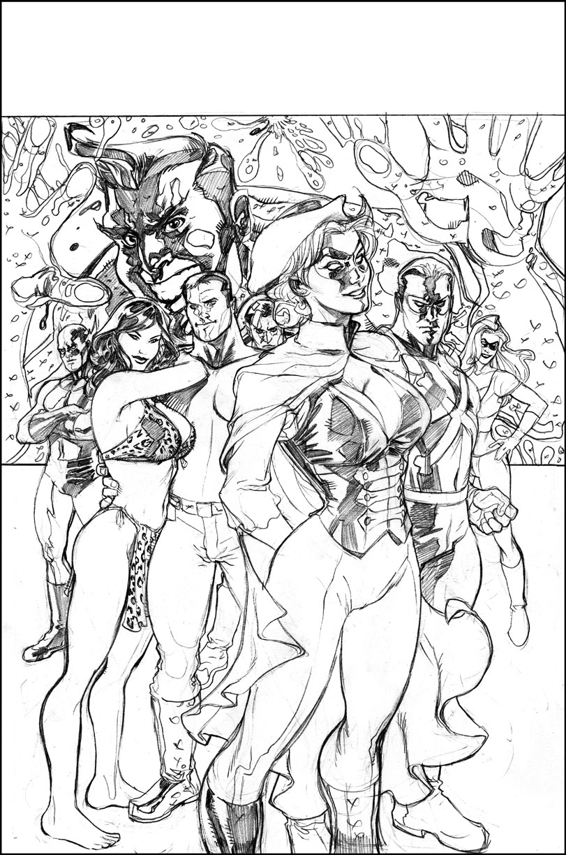 Terra Obscura Pencils by TerryDodson