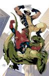 X-Men 10 Cover Colors WIP