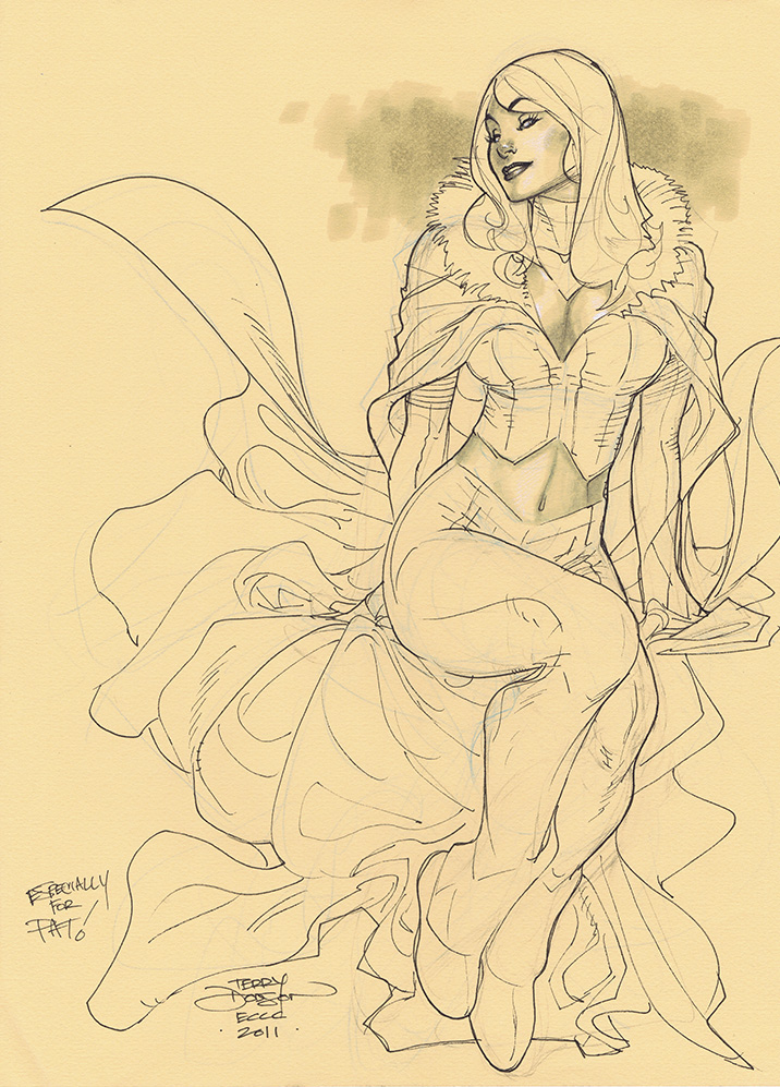 Emma Frost ECCC 2011 RESCAN by TerryDodson