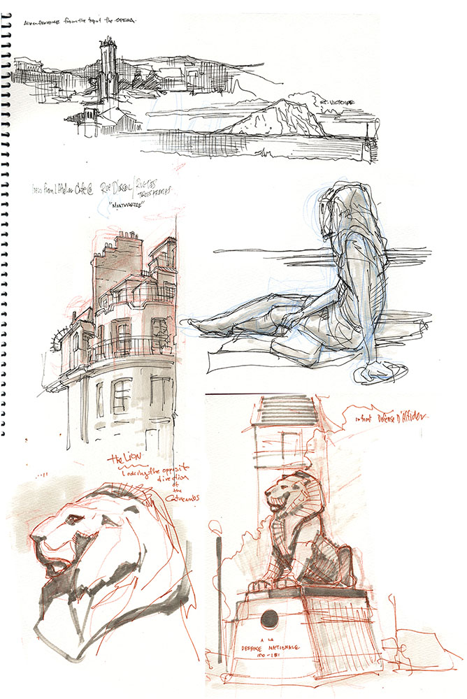 France Sketches 1 by TerryDodson