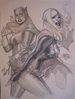 Batgirl Supergirl SDCC2011 by TerryDodson