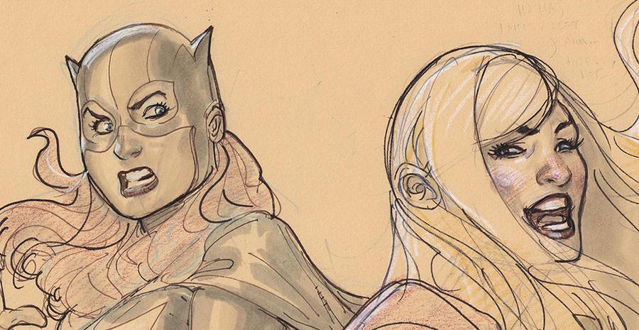 Batgirl Supergirl Detail by TerryDodson