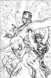 Defenders 2 Cover Pencils by TerryDodson
