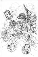 Defenders 3 Cover Pencils by TerryDodson
