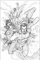 Defenders 5 Cover Pencils by TerryDodson