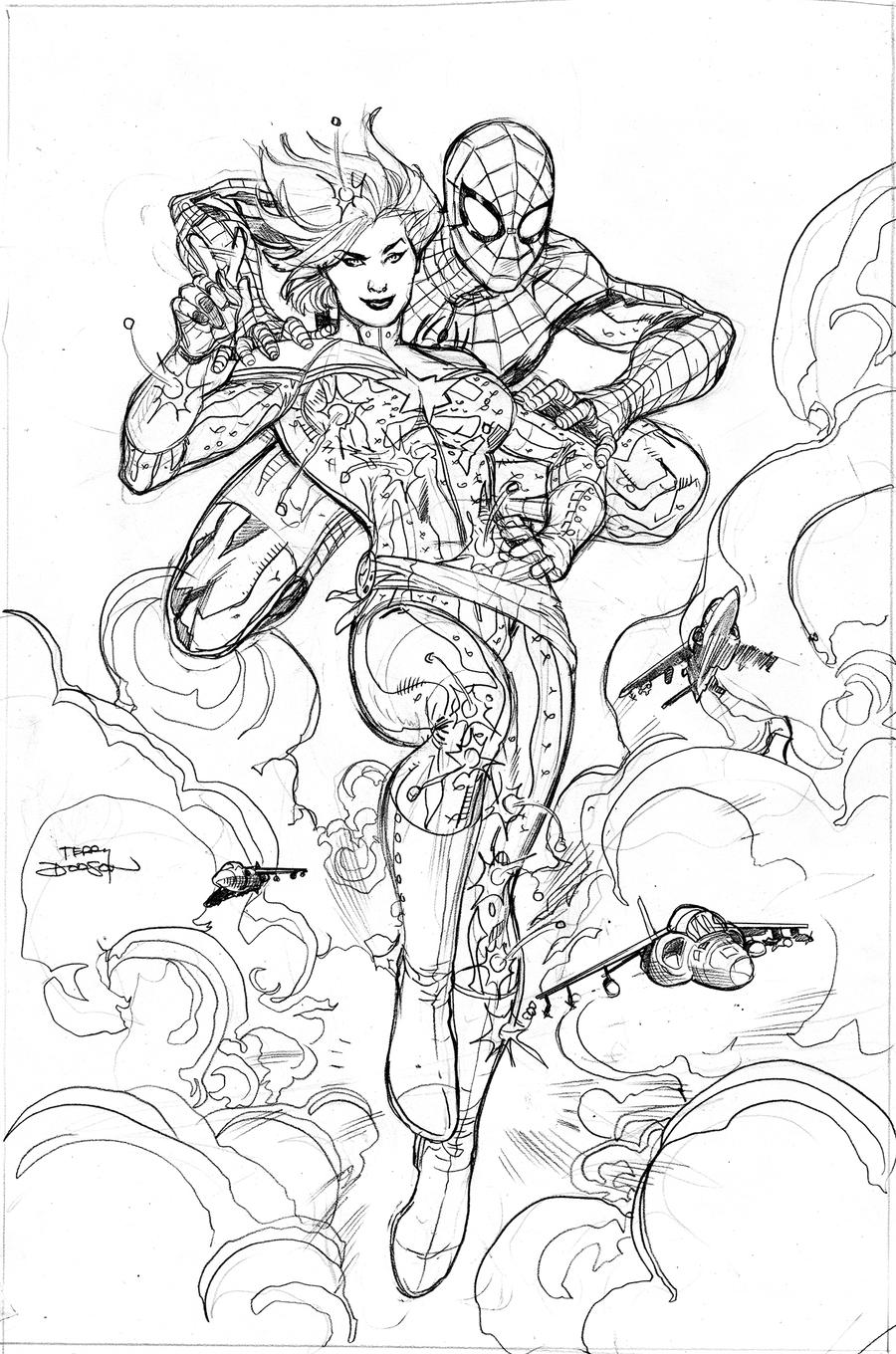 Avenging Spider-Man #9 Cover Pencils by TerryDodson
