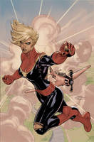 Captian Marvel 5 Cover Colors by TerryDodson
