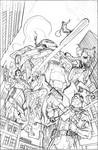 The Defenders #11 Cover Pencils