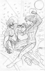 Captain Marvel #6 Cover Pencils by TerryDodson