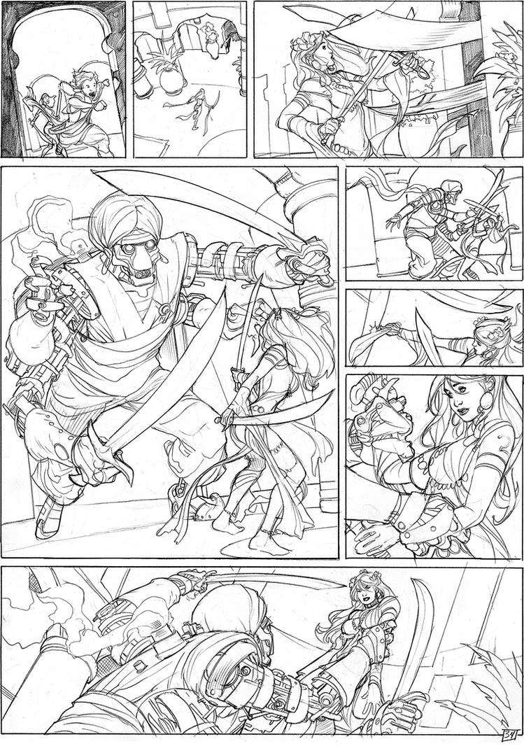 Songes Tome 2 Page 34 Lineart by TerryDodson