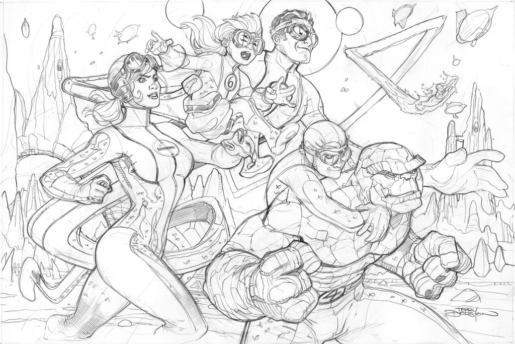 Fantastic Four #4 Cover Pencil by TerryDodson