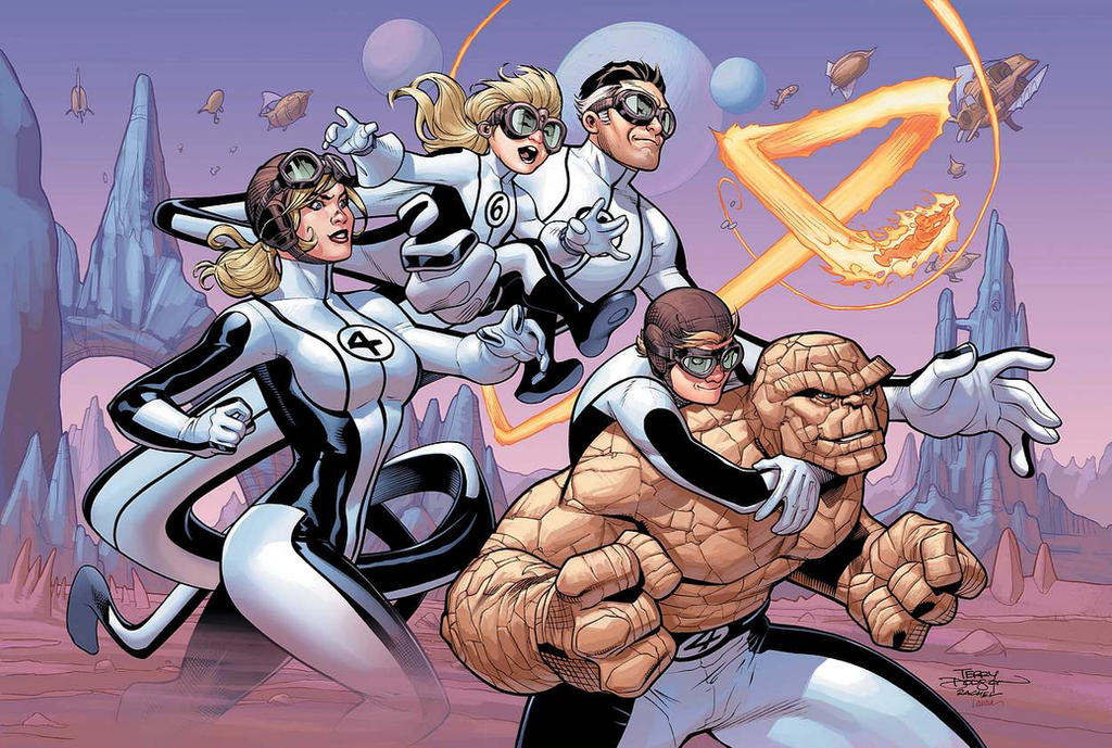 Fantastic Four #4 Cover COLOR by TerryDodson