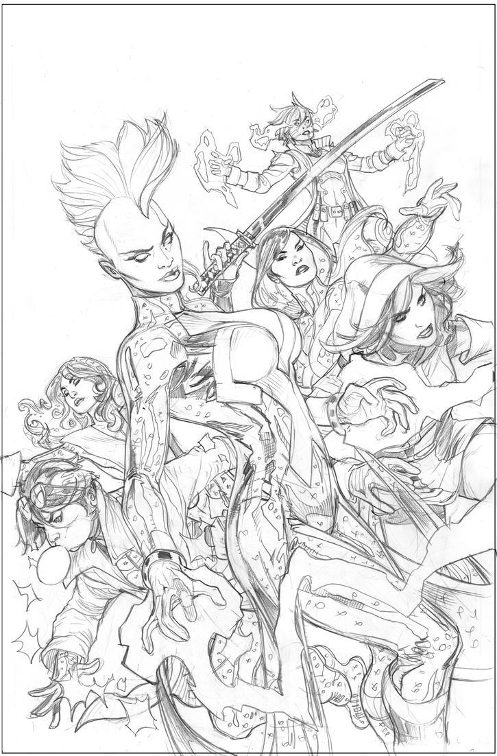 X-Men #1 Cover Pencils by TerryDodson