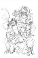 New Avengers #7 Wolverine House of M Variant Cover by TerryDodson