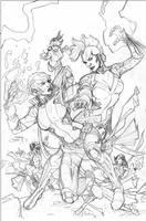 X-Men #5 Variant Cover Pencil by TerryDodson
