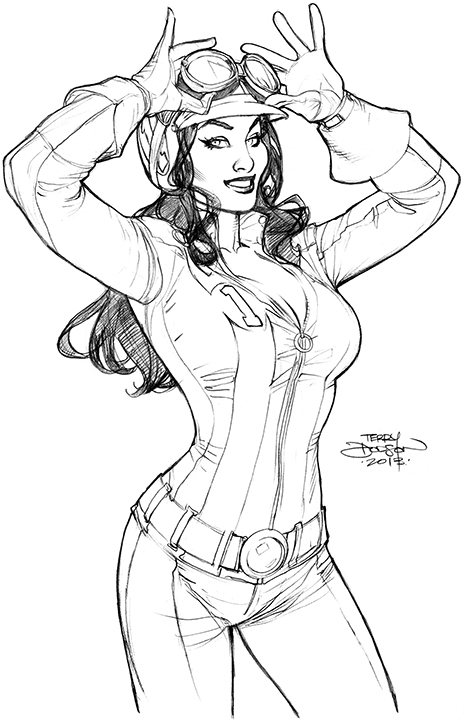 Bombshells 7 Cover Lineart by TerryDodson