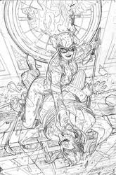 Catwoman 21 Cover Pencil by TerryDodson